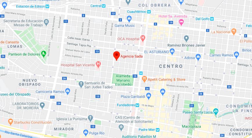 Agencia Sada ubicación
